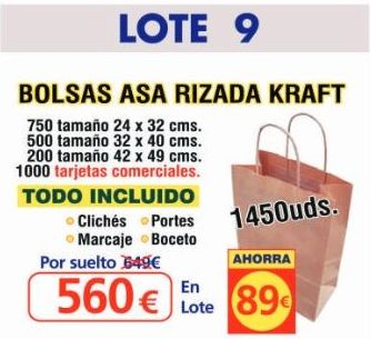 BOLSA ASA RIZADA KRAFT 1450 UNDS: TIENDA ON LINE de Seriprint