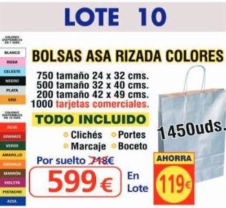 BOLSA ASA RIZADA COLORES 1450UNDS: TIENDA ON LINE de Seriprint Serigrafia