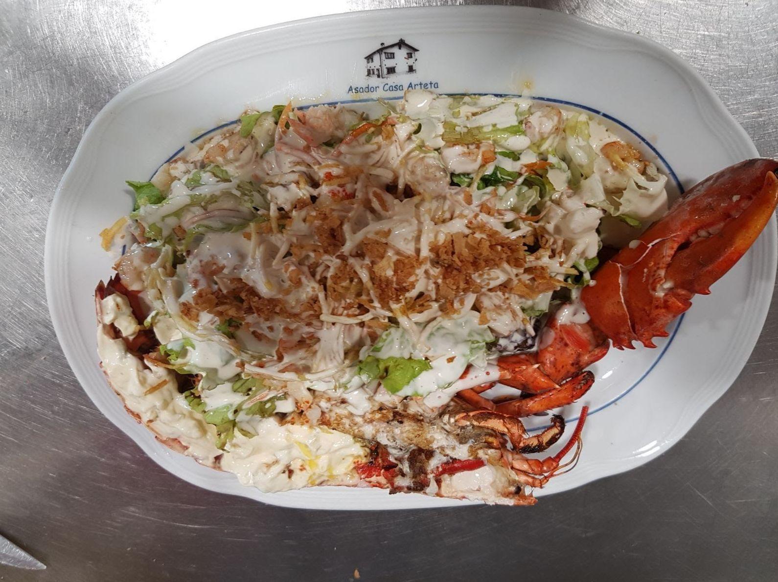Entrantes fríos:  Menús de Restaurante Casa Arteta