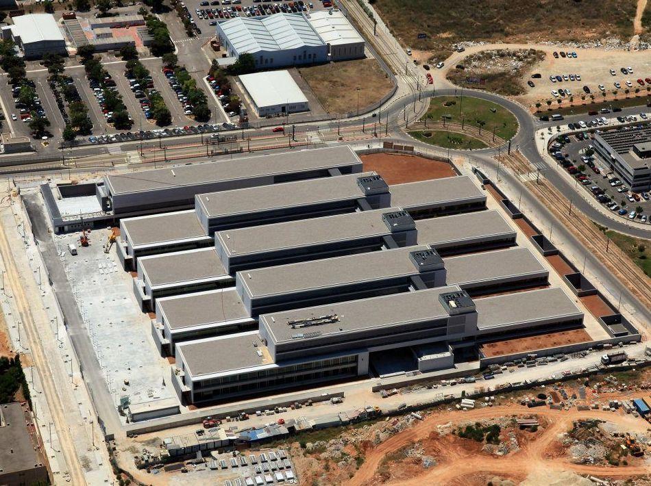 Trabajos de impermeabilización en la Universidad de Valencia