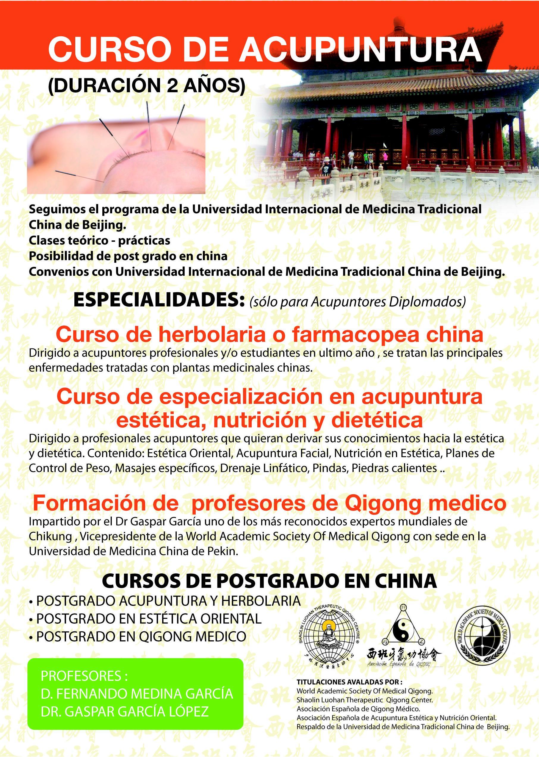 Curso de acupuntura en Málaga