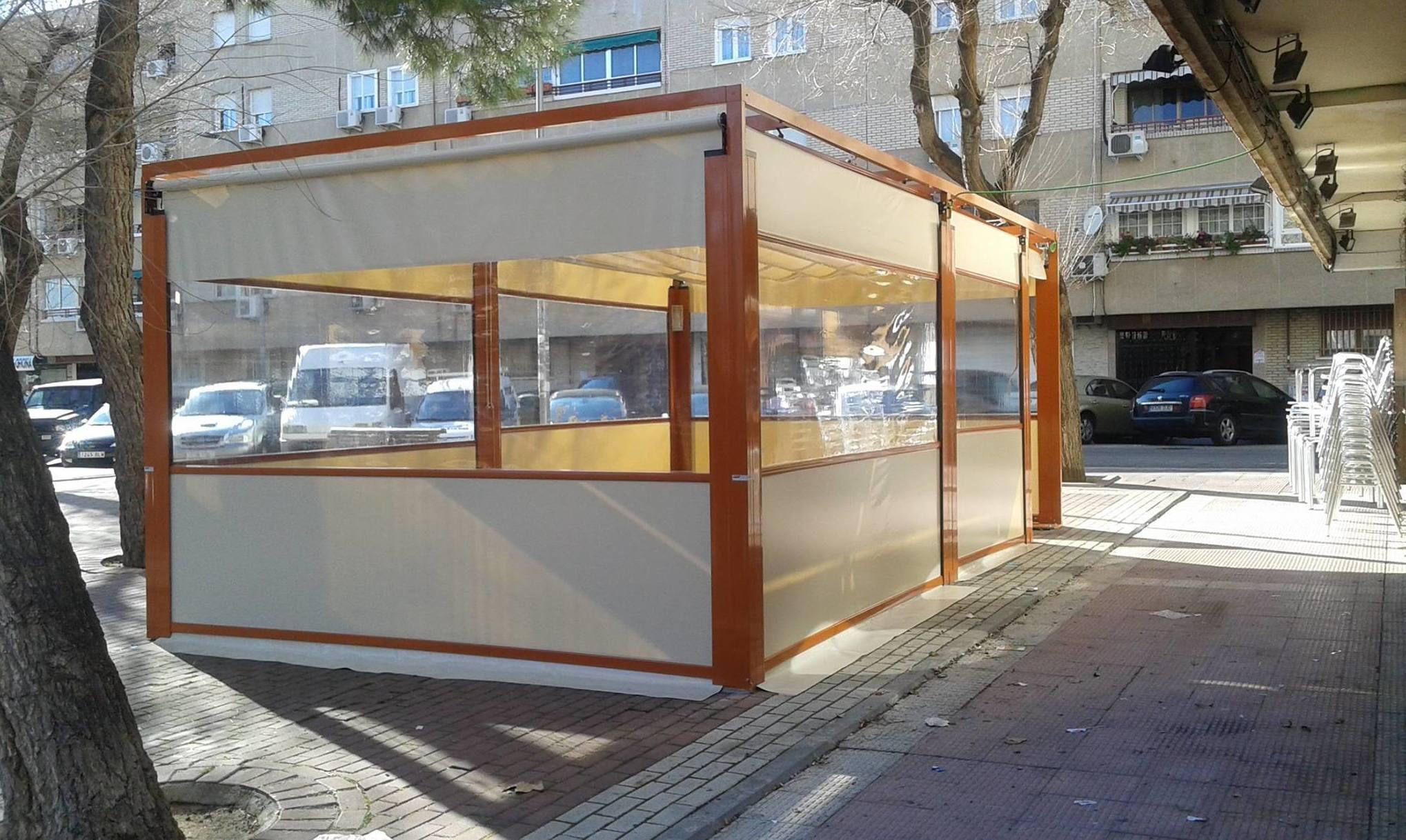 Cerramientos para terrazas exteriores de bar