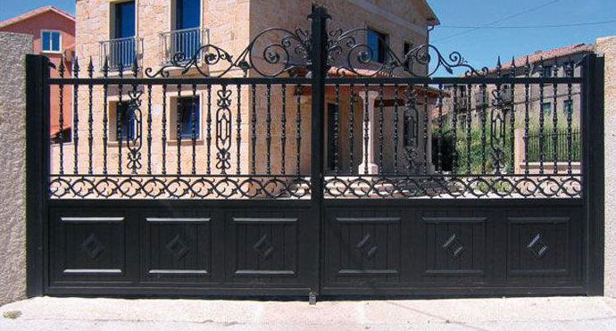 Puertas cancela de jardín