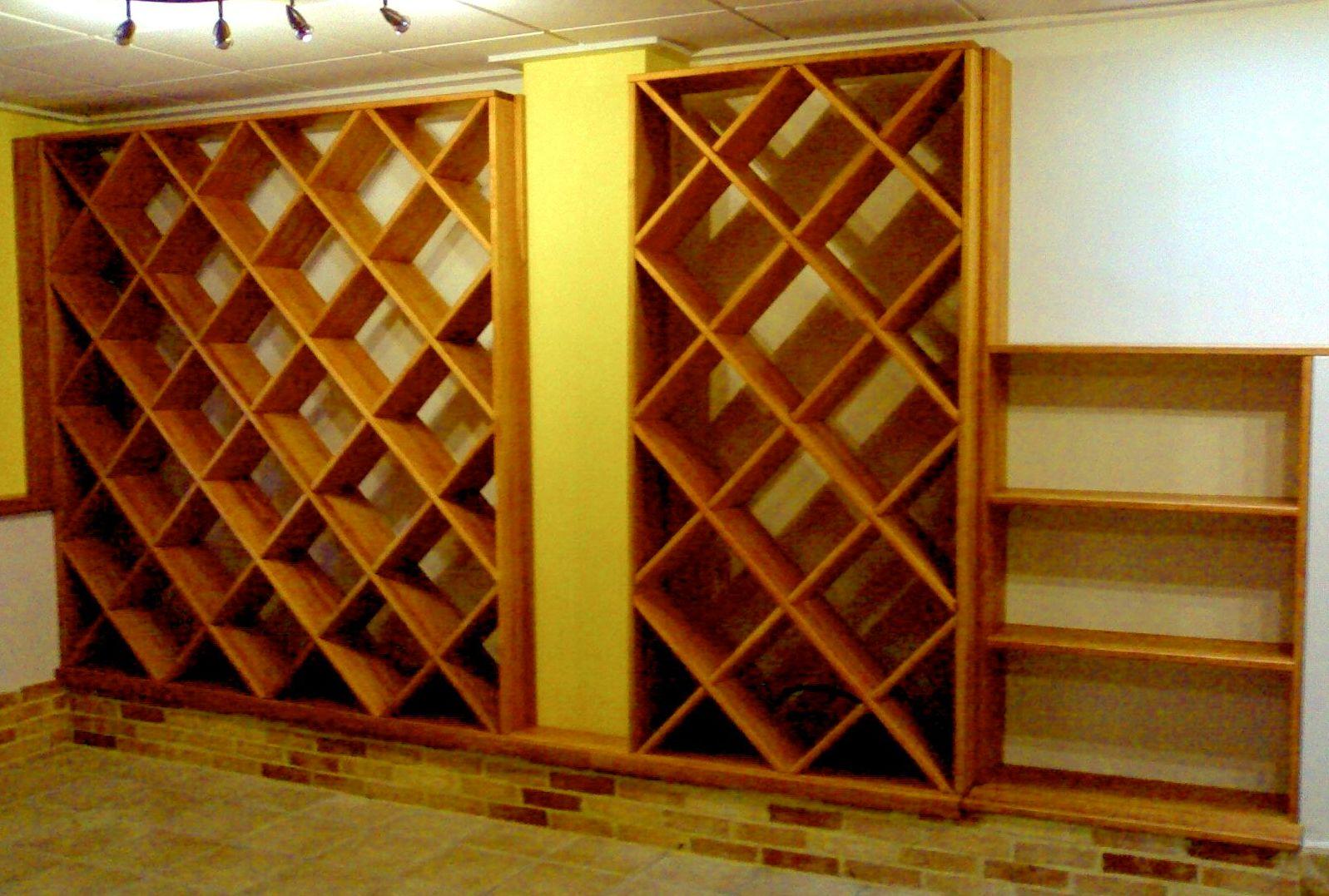 Instalación botelleros de madera