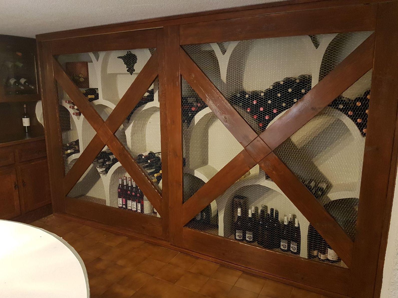 Frontal botellero con puertas correderas