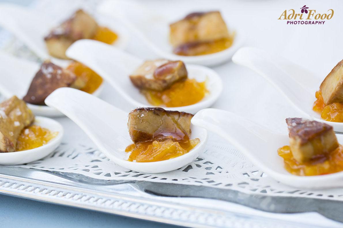 Delicioso entrante para días de verano & Foie con mango confitado