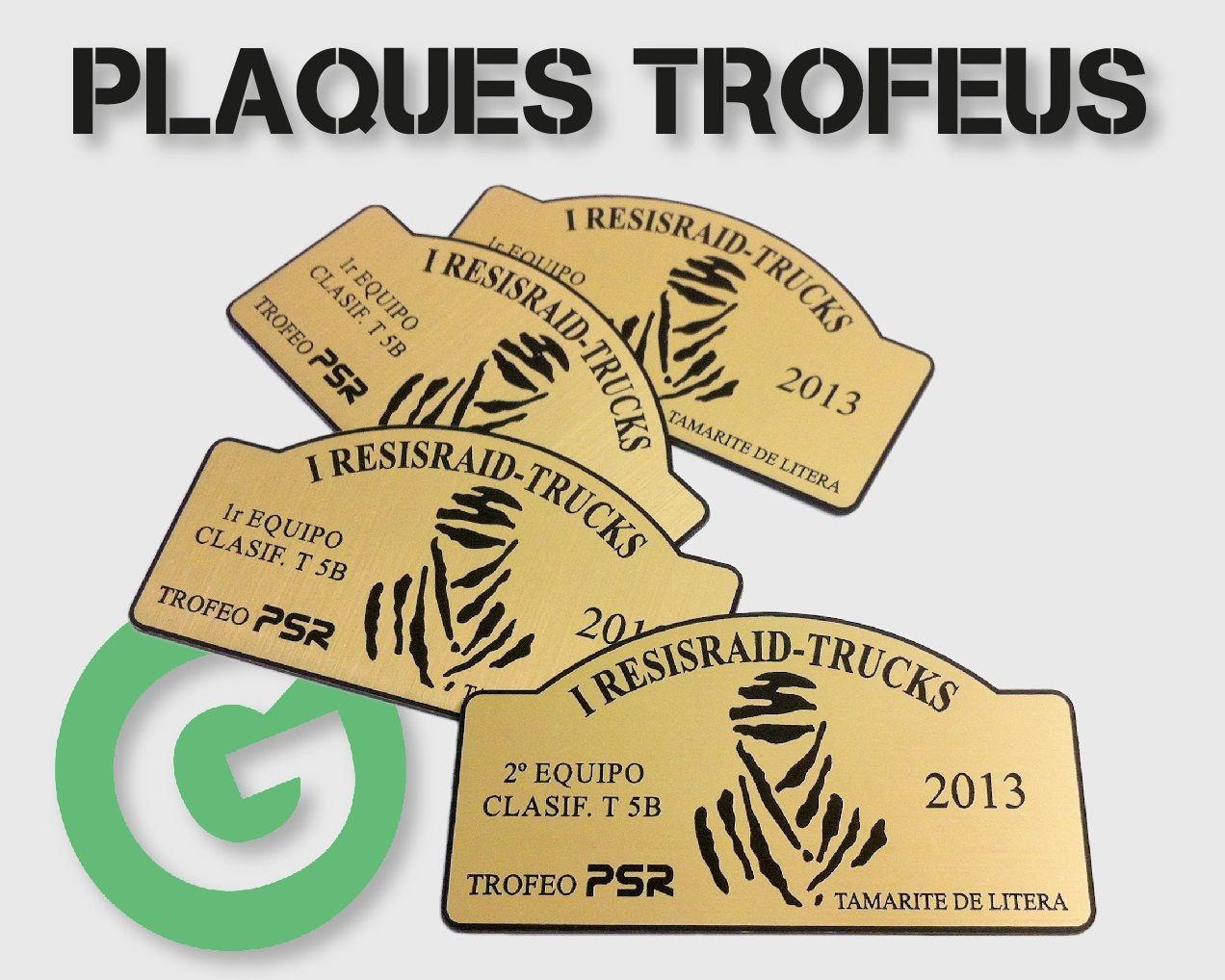 Placas para trofeos