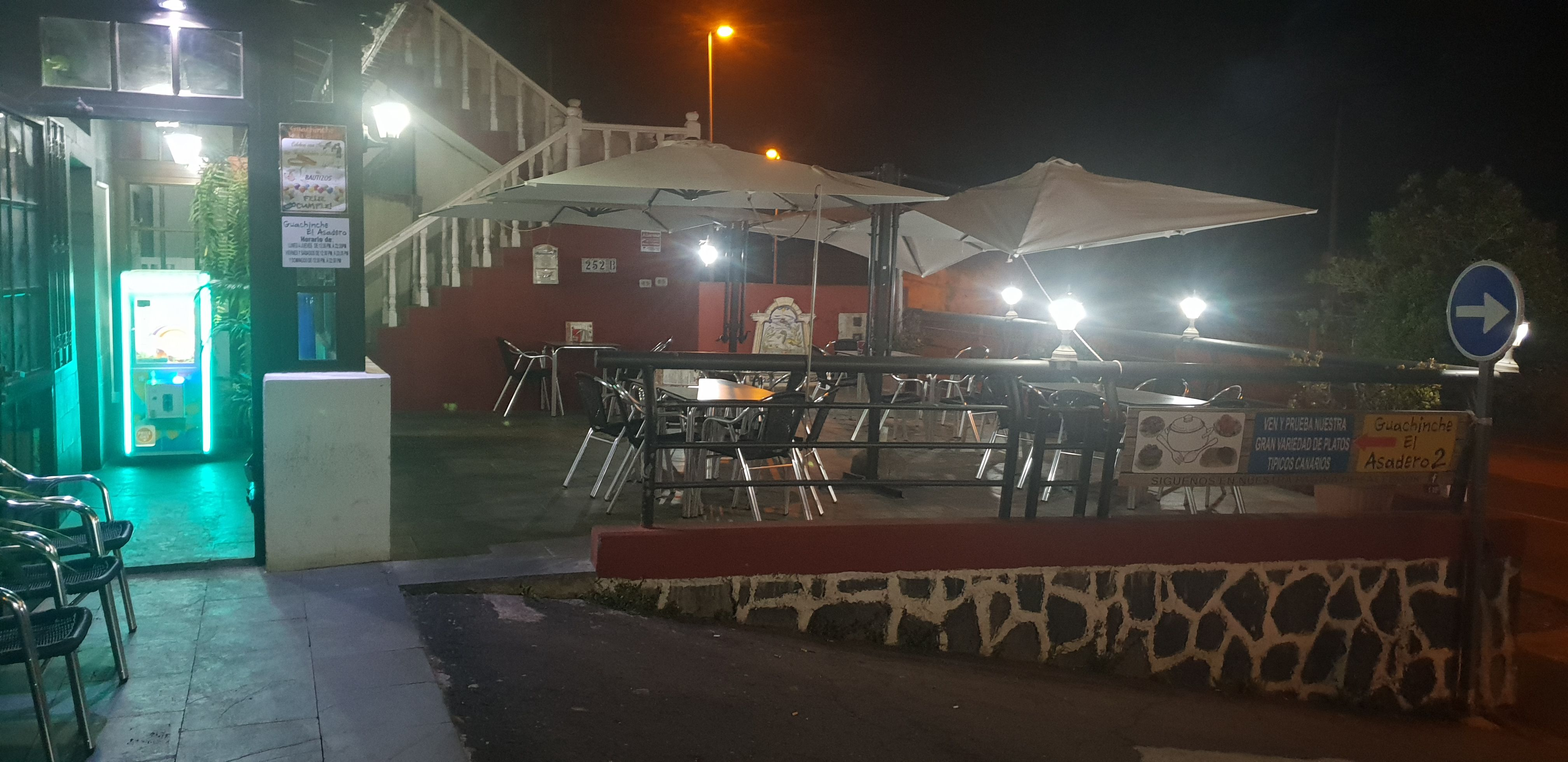 Terrace for events in northern Tenerife