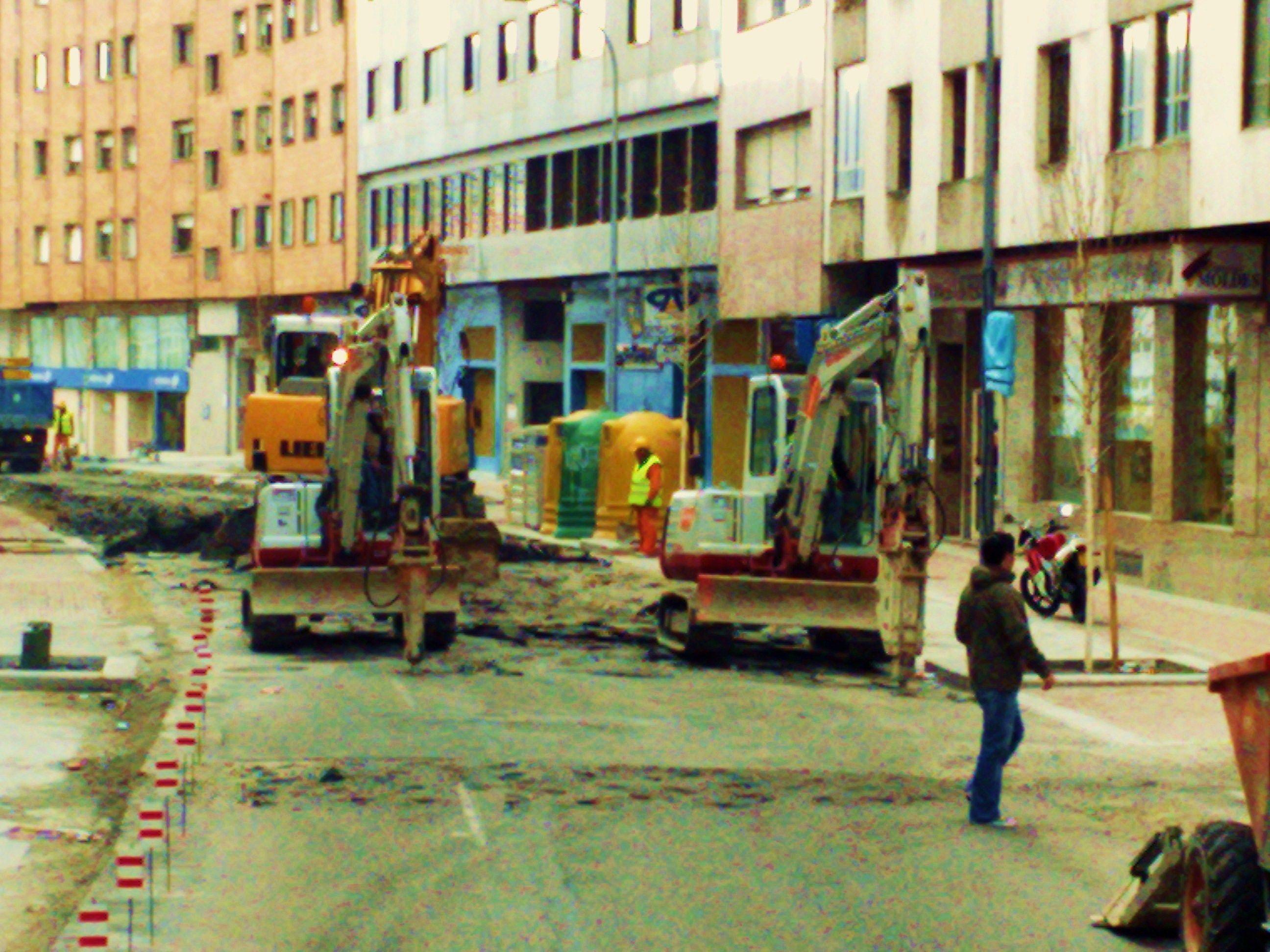 demolicion de la c/ paseo colon PONTEVEDRA
