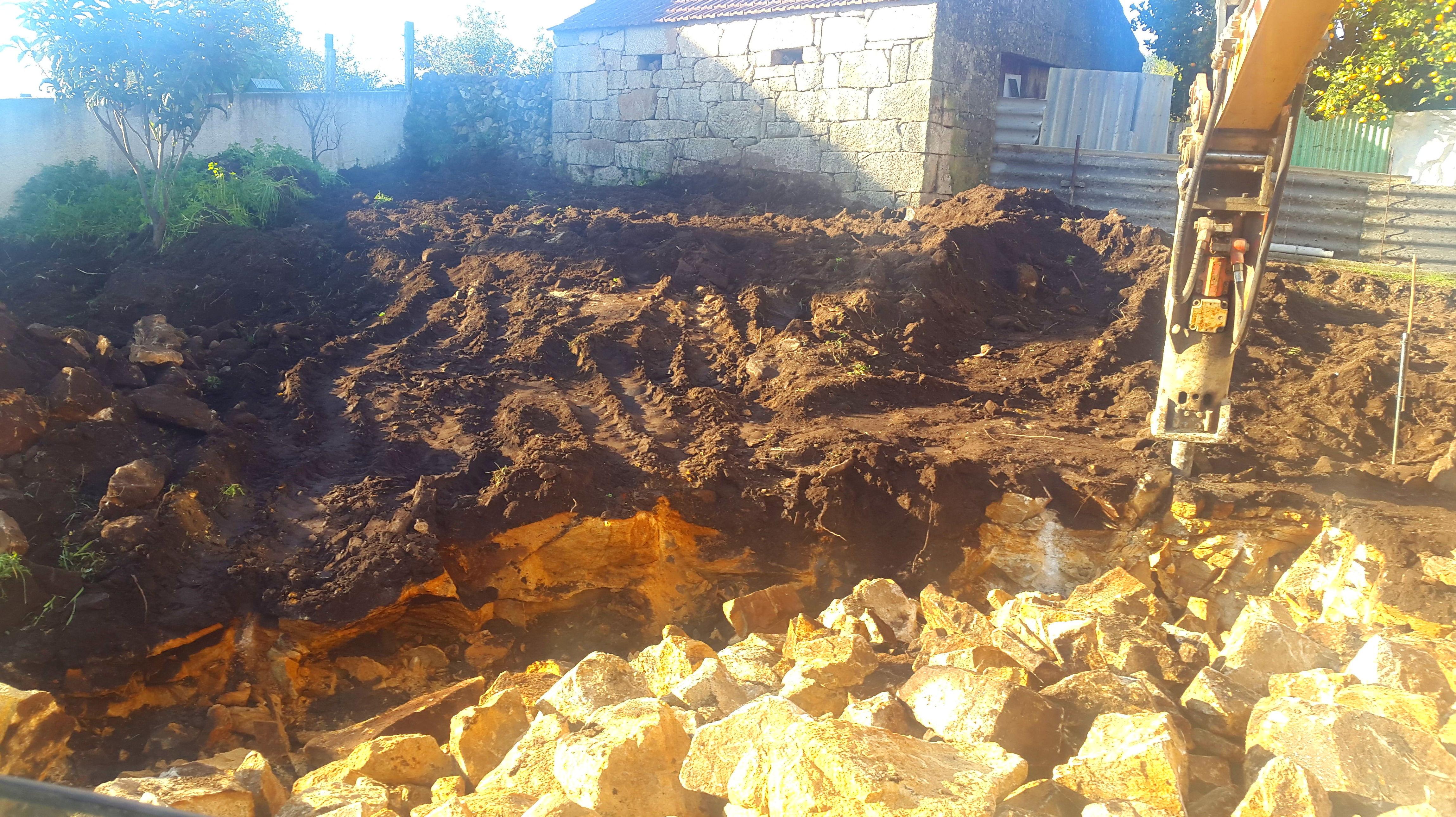 excavacion en roca en o pereiro - poio