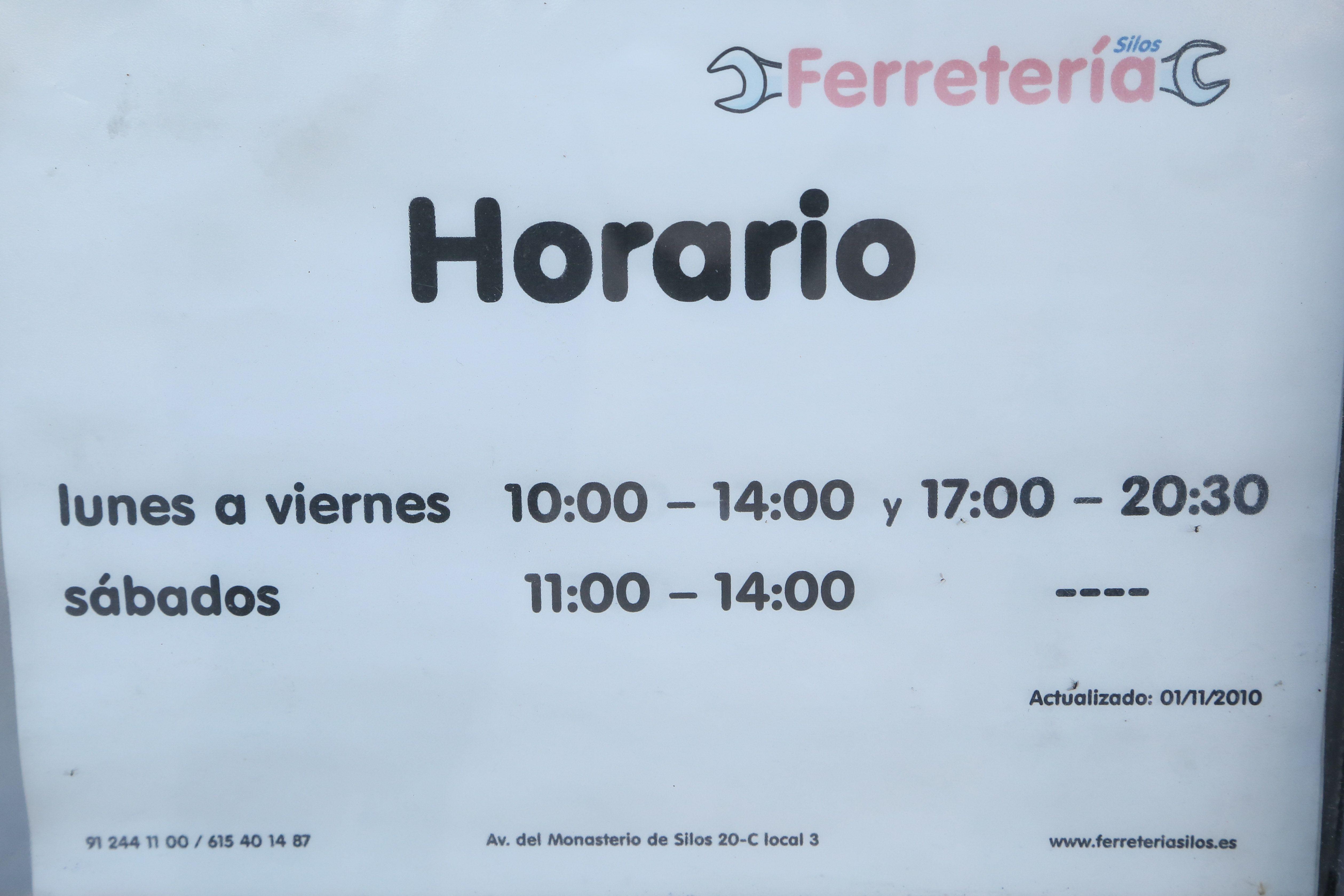 Foto 5 de Ferreterías en Madrid | Ferretería Silos