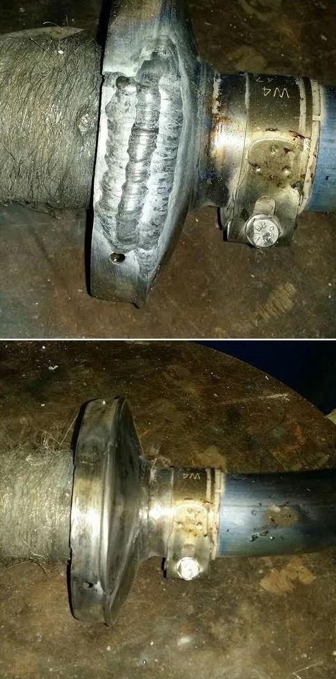 Reparación de tubo de escape de titanio