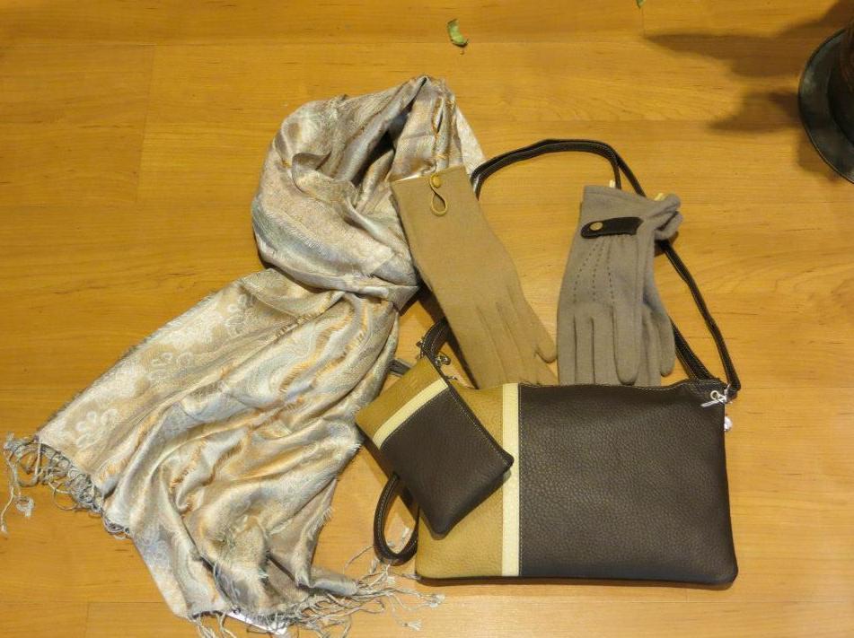 Bolsos, pañuelos, guantes y complementos en general para la mujer