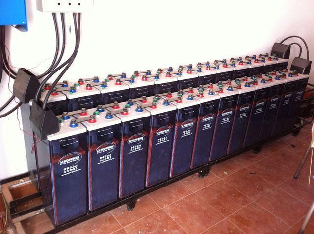 Instalación de almacenaje procedente de instalación solar fotovoltaica