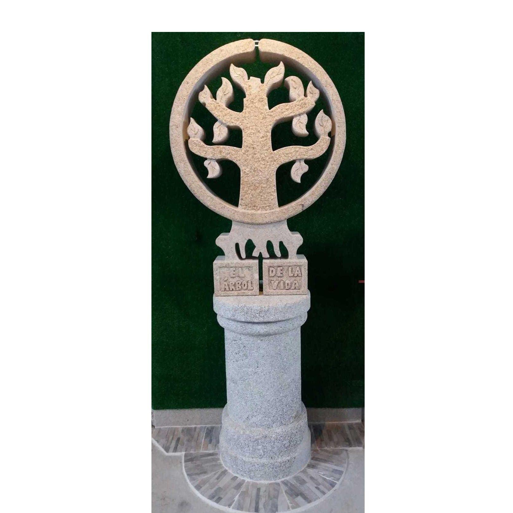 Árbol de la vida en piedra de granito