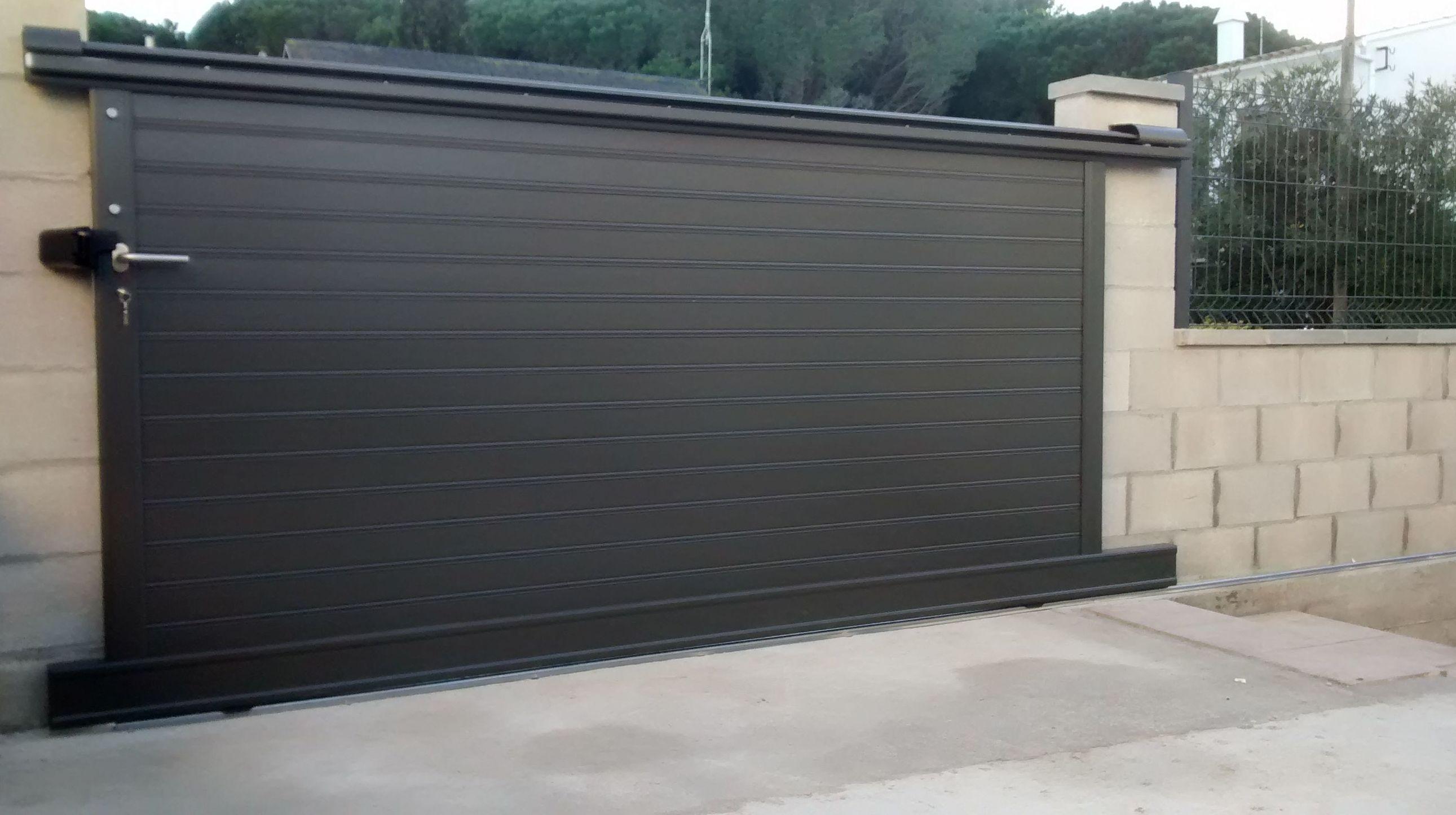 Puertas y vallas de jard n de hierro nuestros productos de met licas copado - Puertas de jardin de aluminio ...