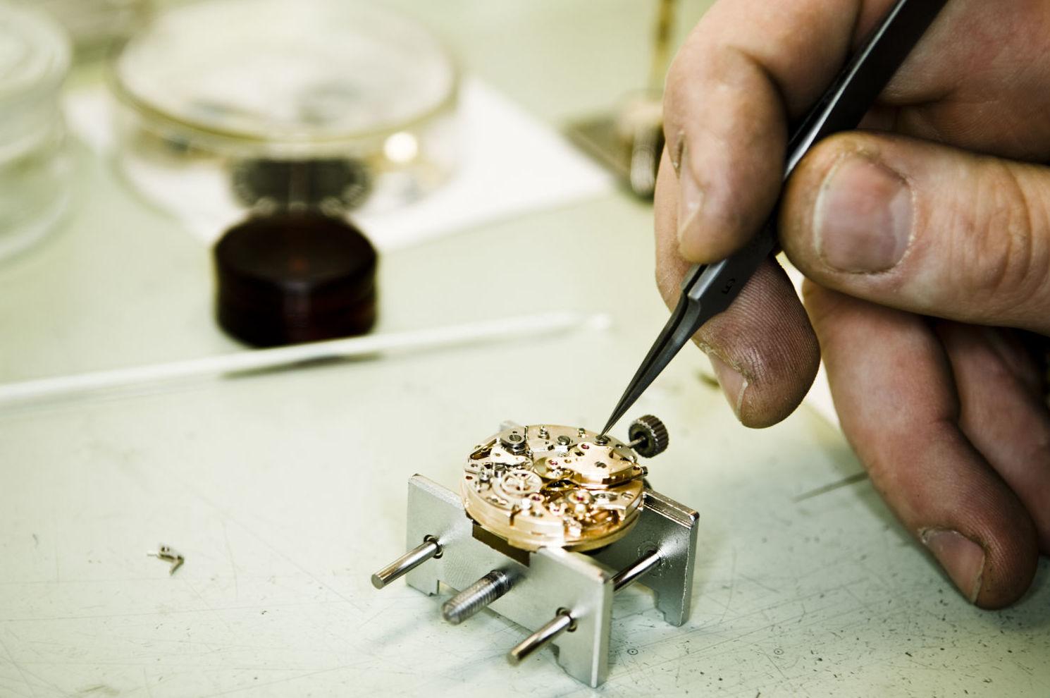 Restauración del mecanismo del reloj