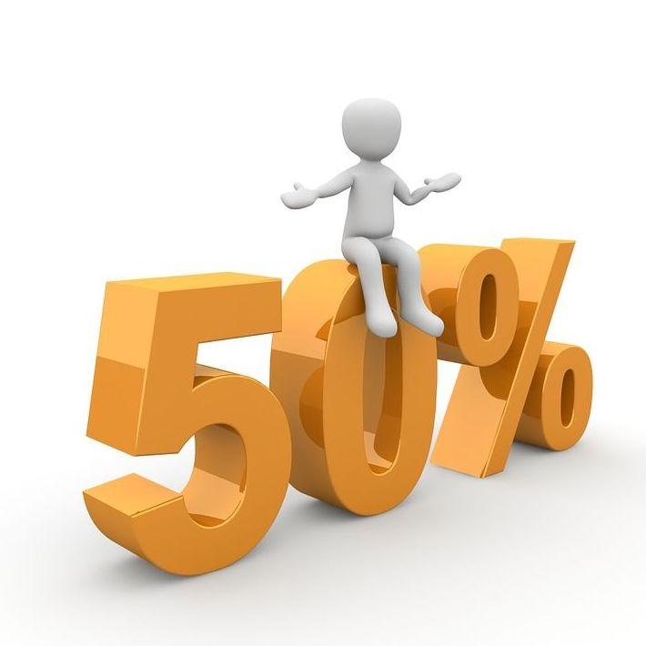 Promoción 50% descuento en pintura plástica