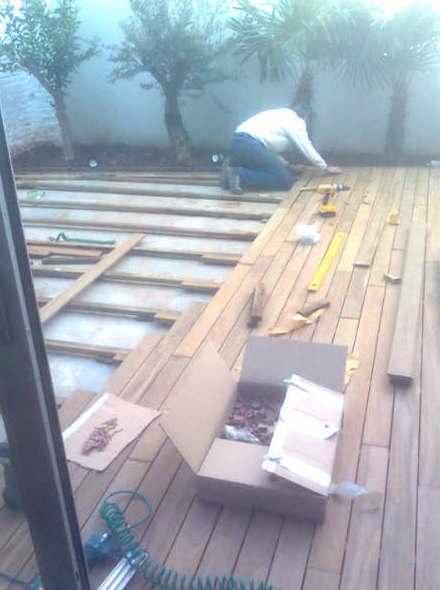 Instalación de suelos de madera en exterior