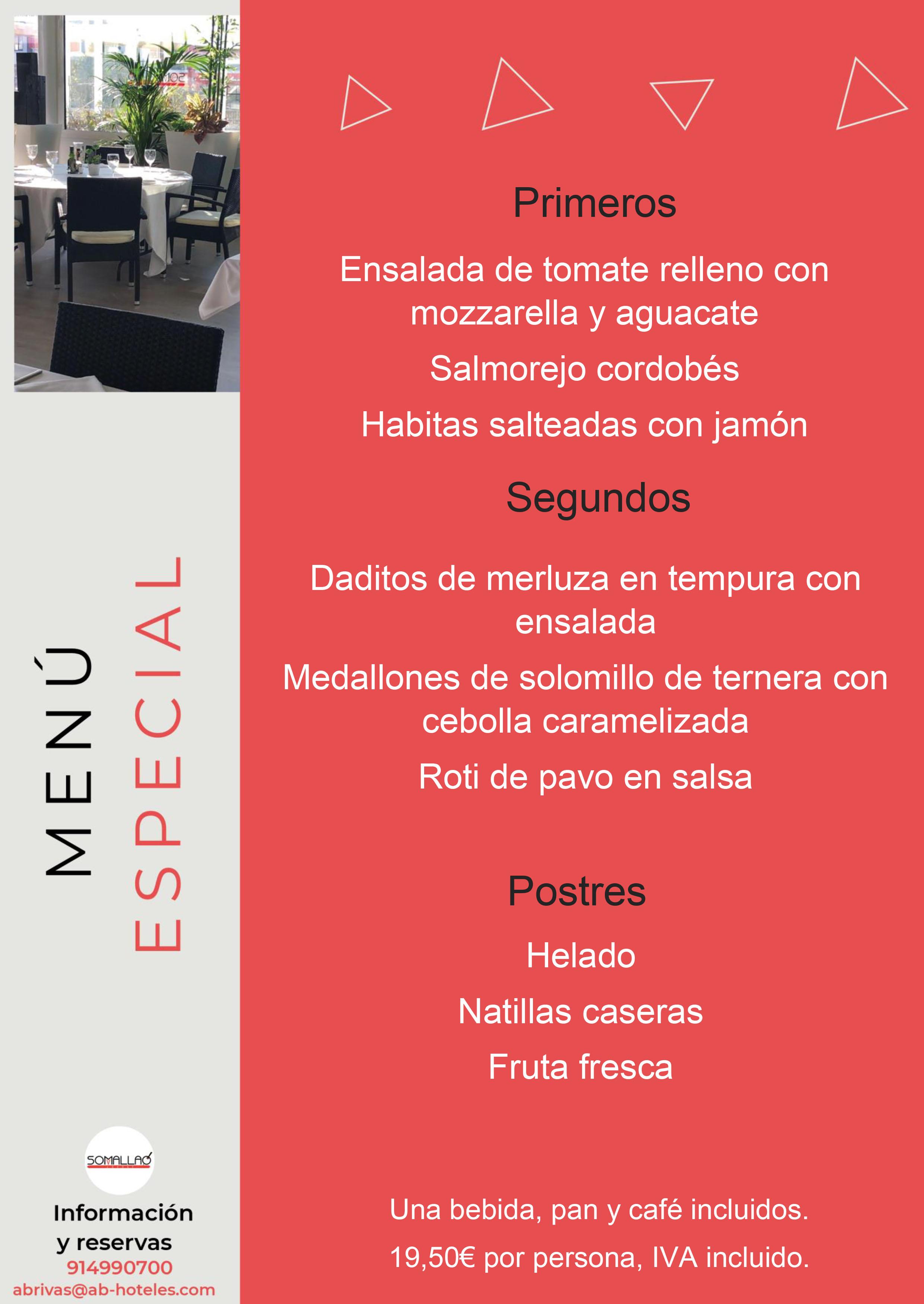 Restaurante Somallao Rivas Menú Especial 21 al 27 de Julio 2021