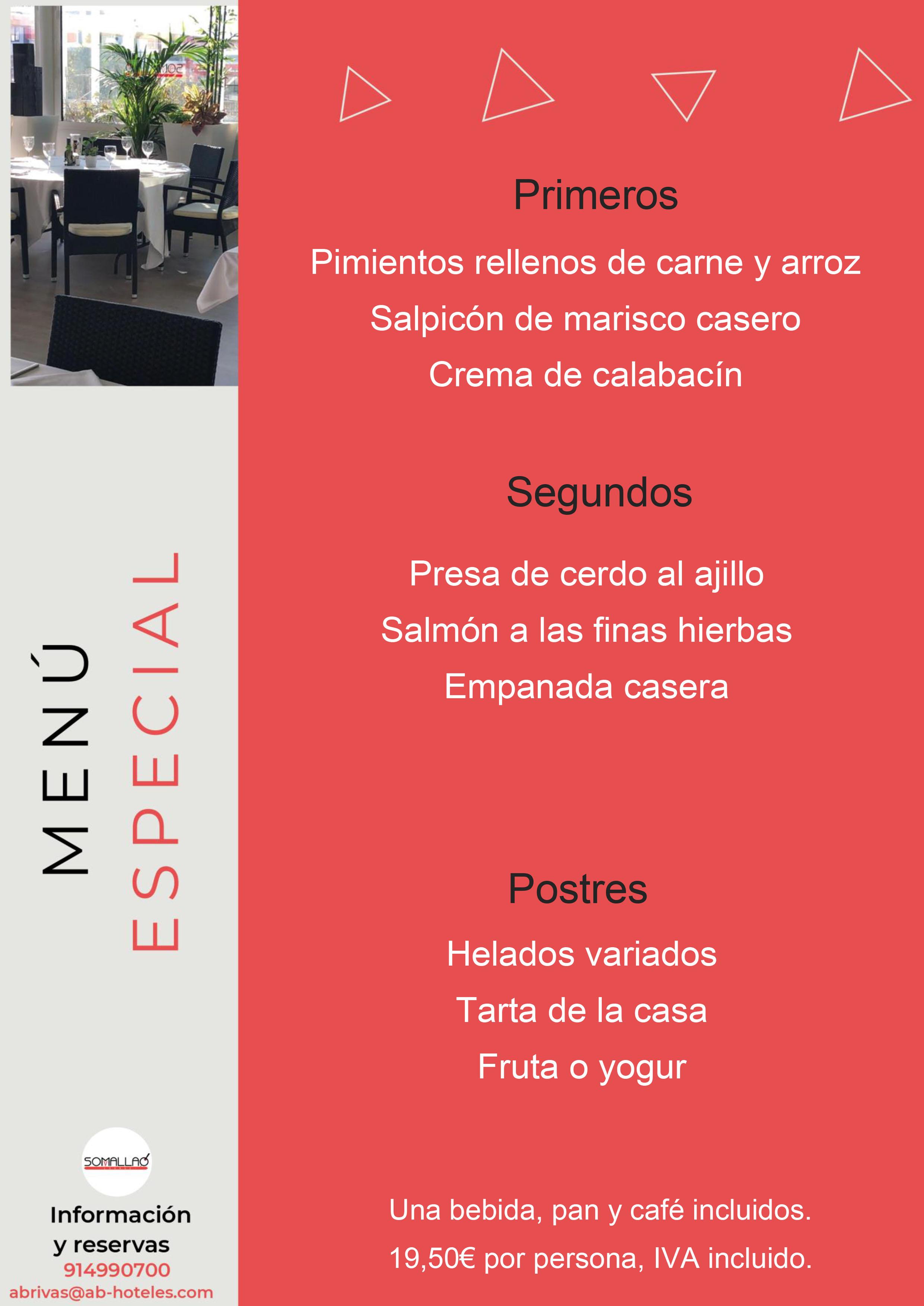 Restaurante Somallao Rivas Menú Especial 1 al 7 de Septiembre de 2021