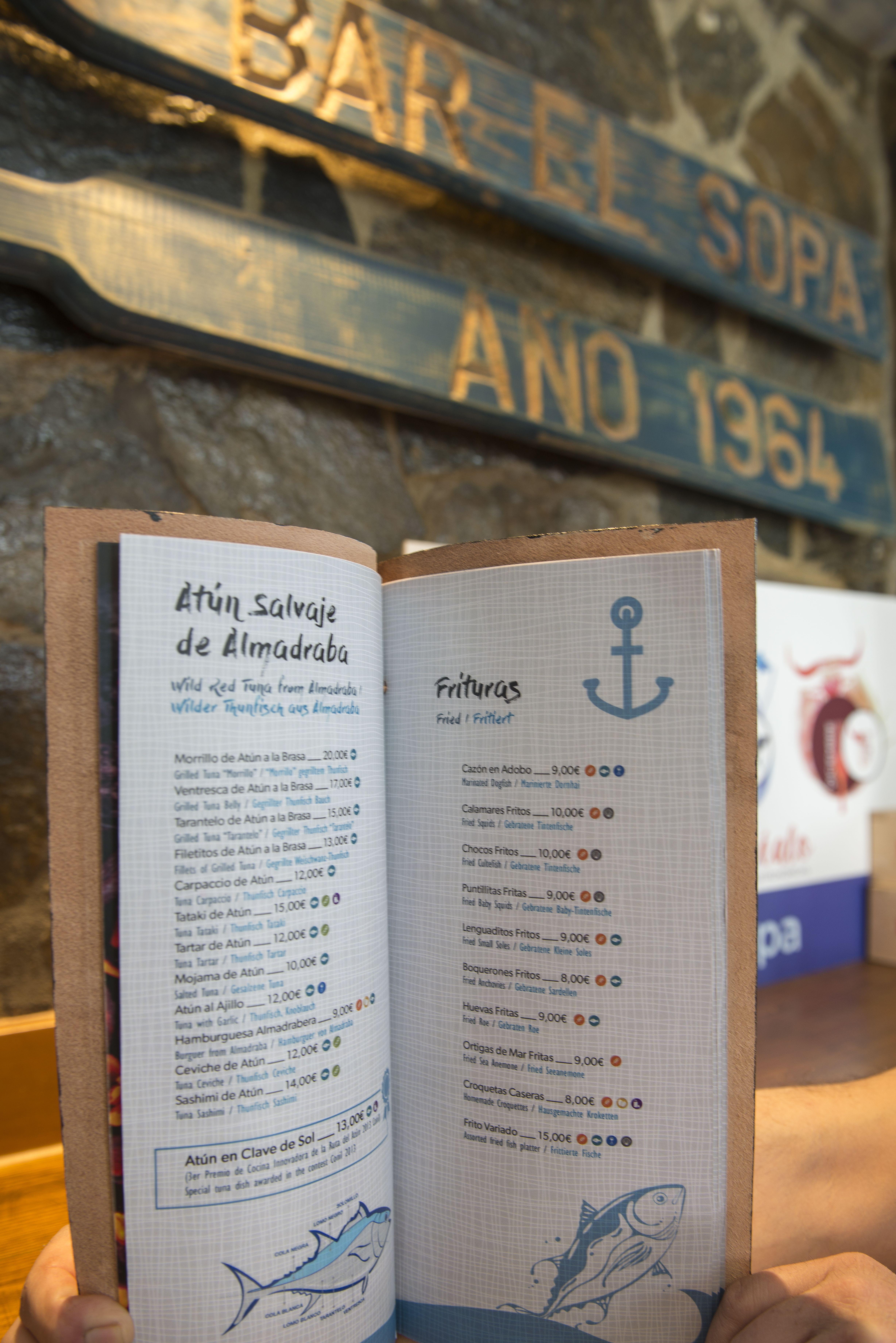 En la carta podrás encontrar atún rojo salvaje de Almadraba