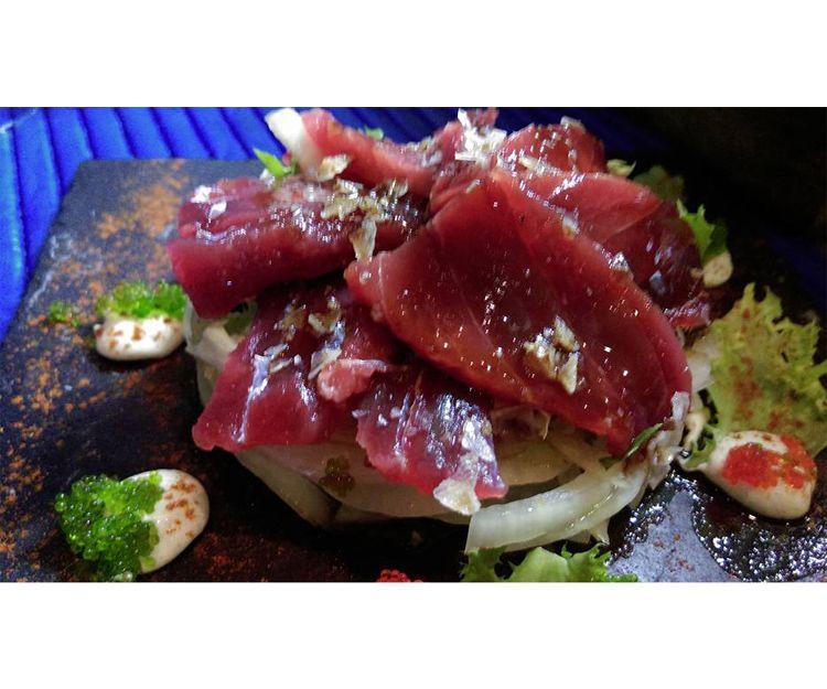 Sashimi de atún rojo salvaje de almadraba