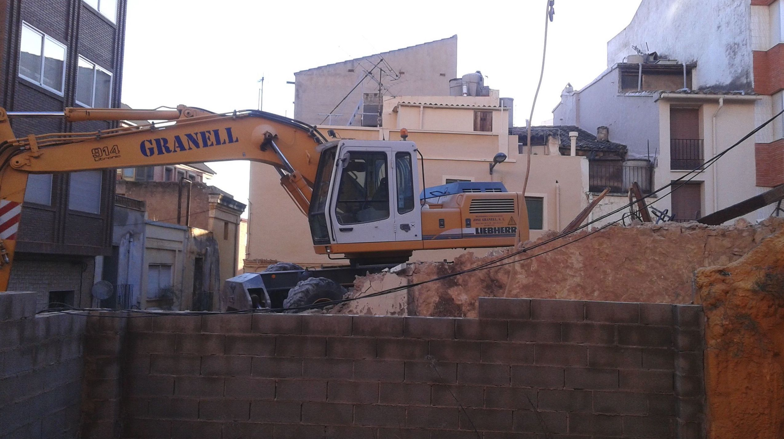 Excavaciones de solares para obras
