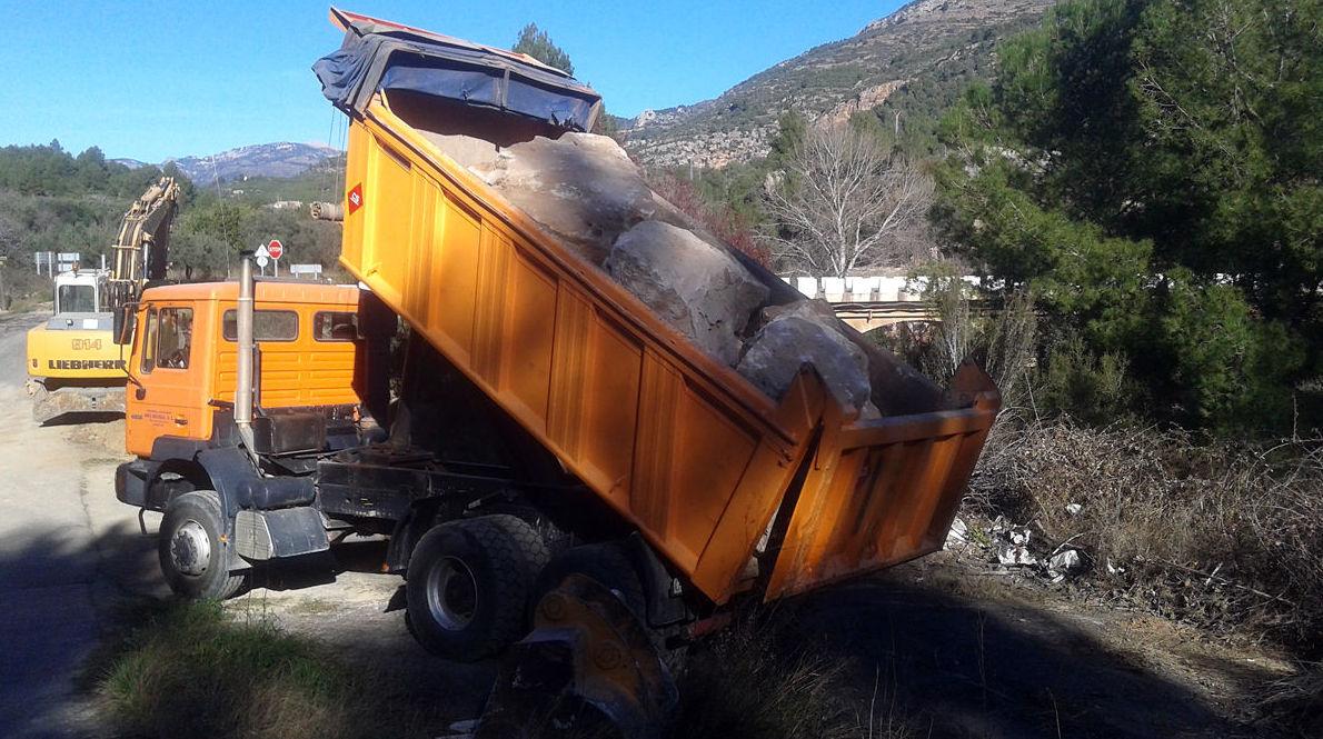 Transporte de material de obra