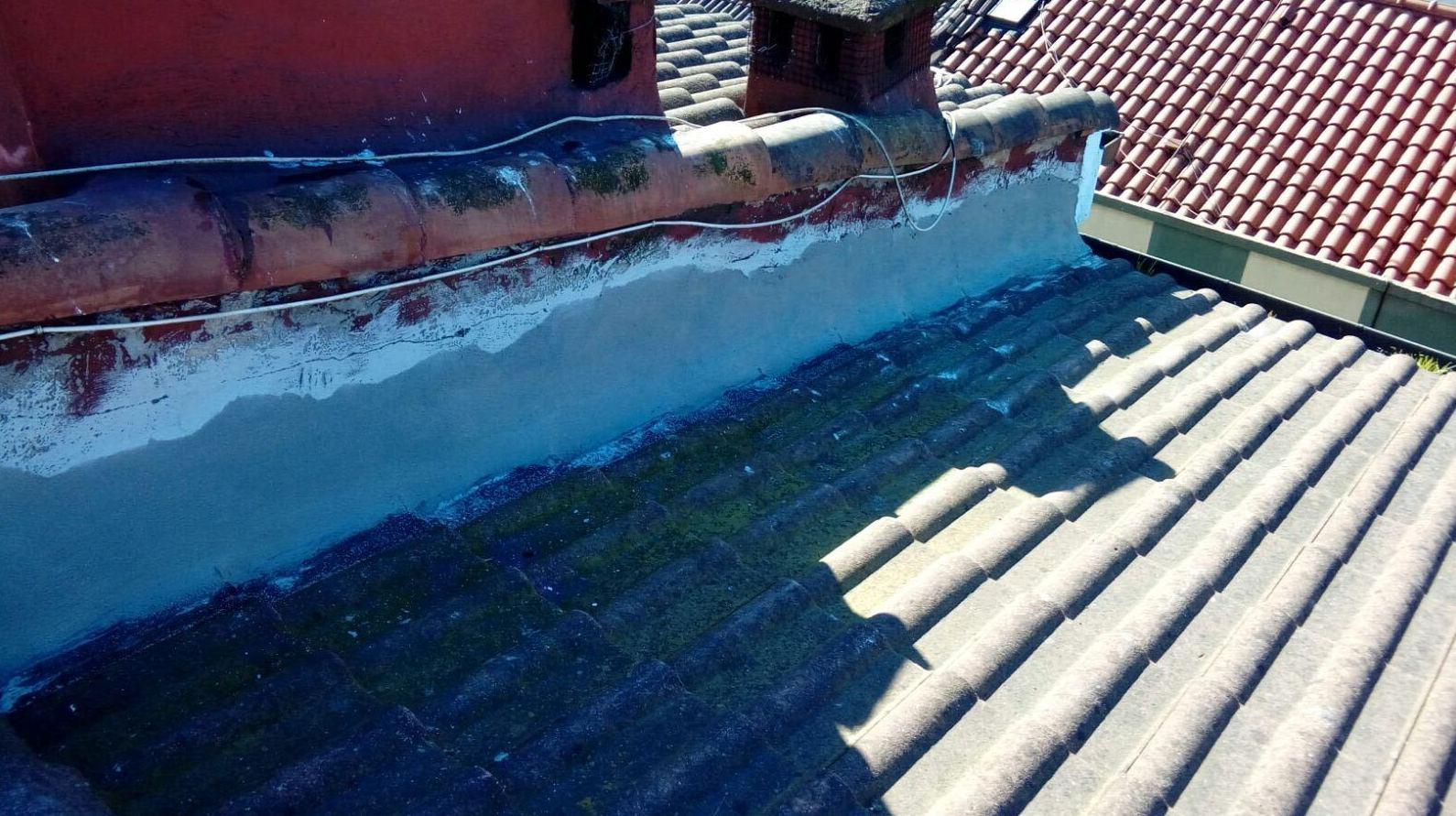 Estado del tejado antes de la reparación
