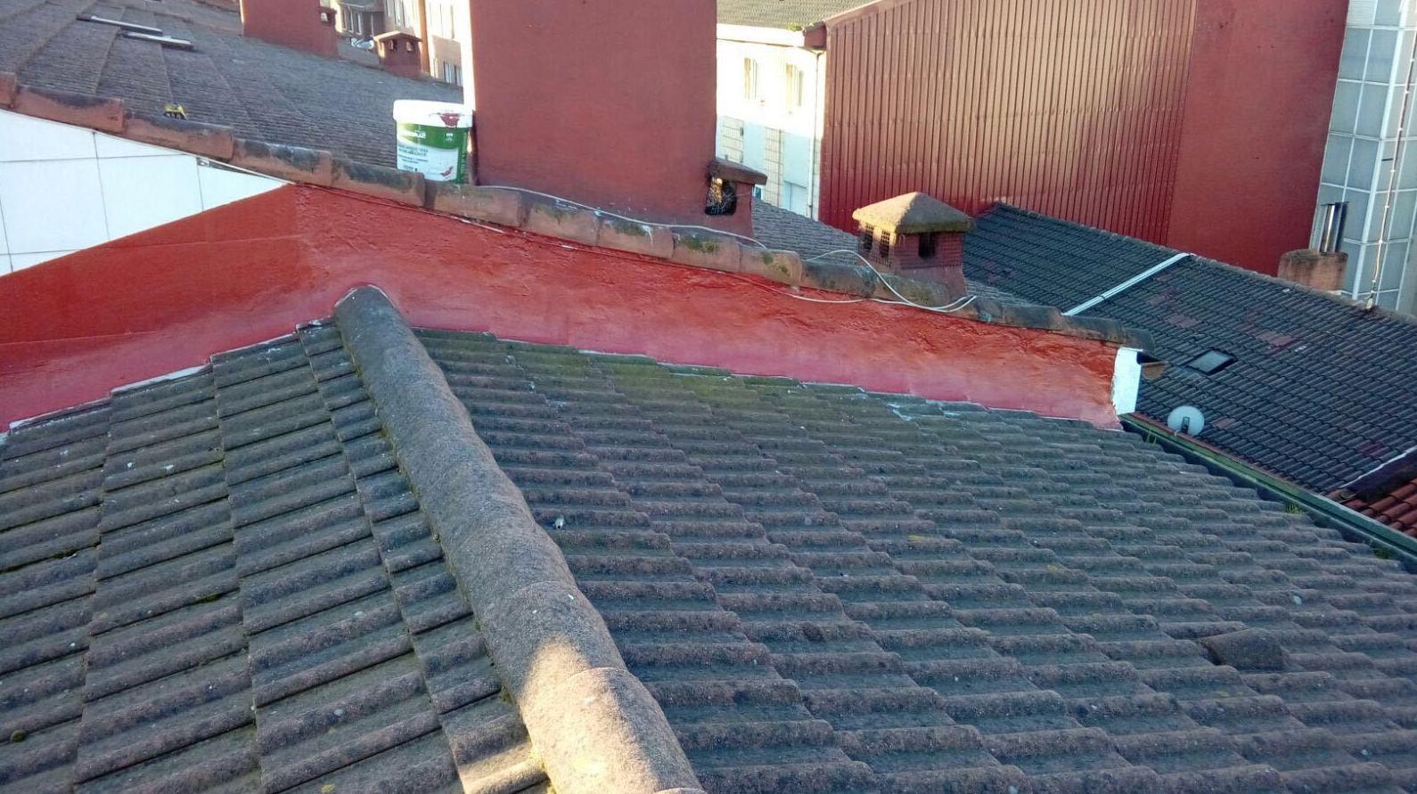 Estado del tejado después de la reparación