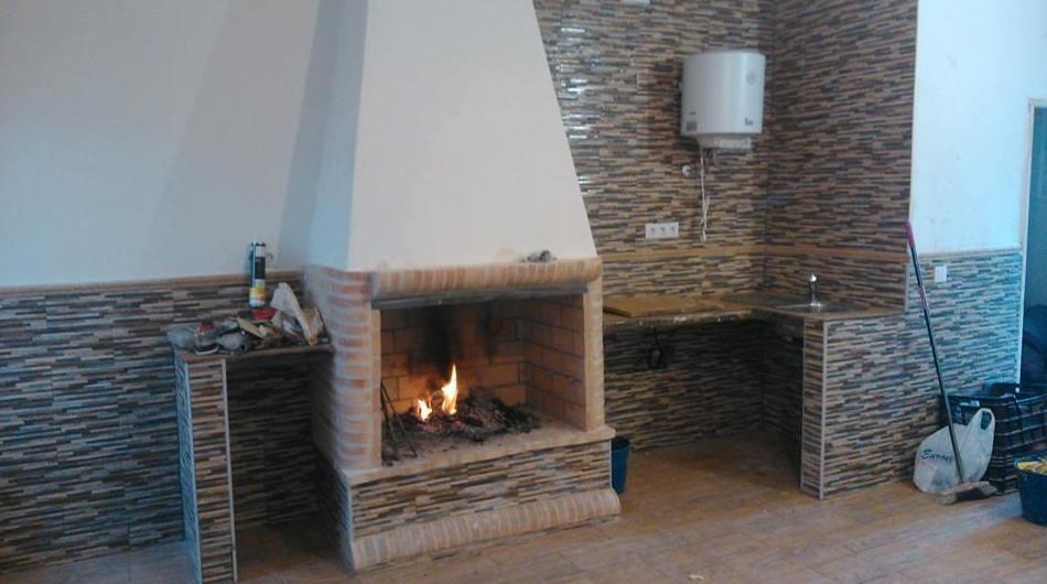 Instalación de chimenea en vivienda