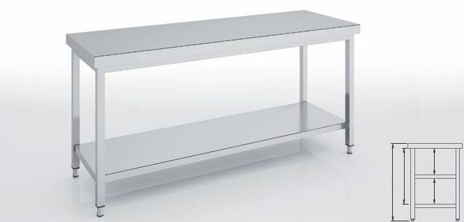 Mesa de trabajo central con estante: Productos   de Miracor