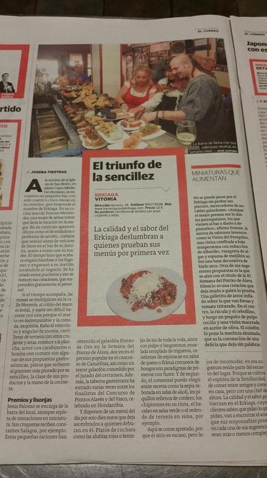 Foto 42 de Cocina tradicional en Vitoria-Gasteiz | Bar Restaurante Erkiaga