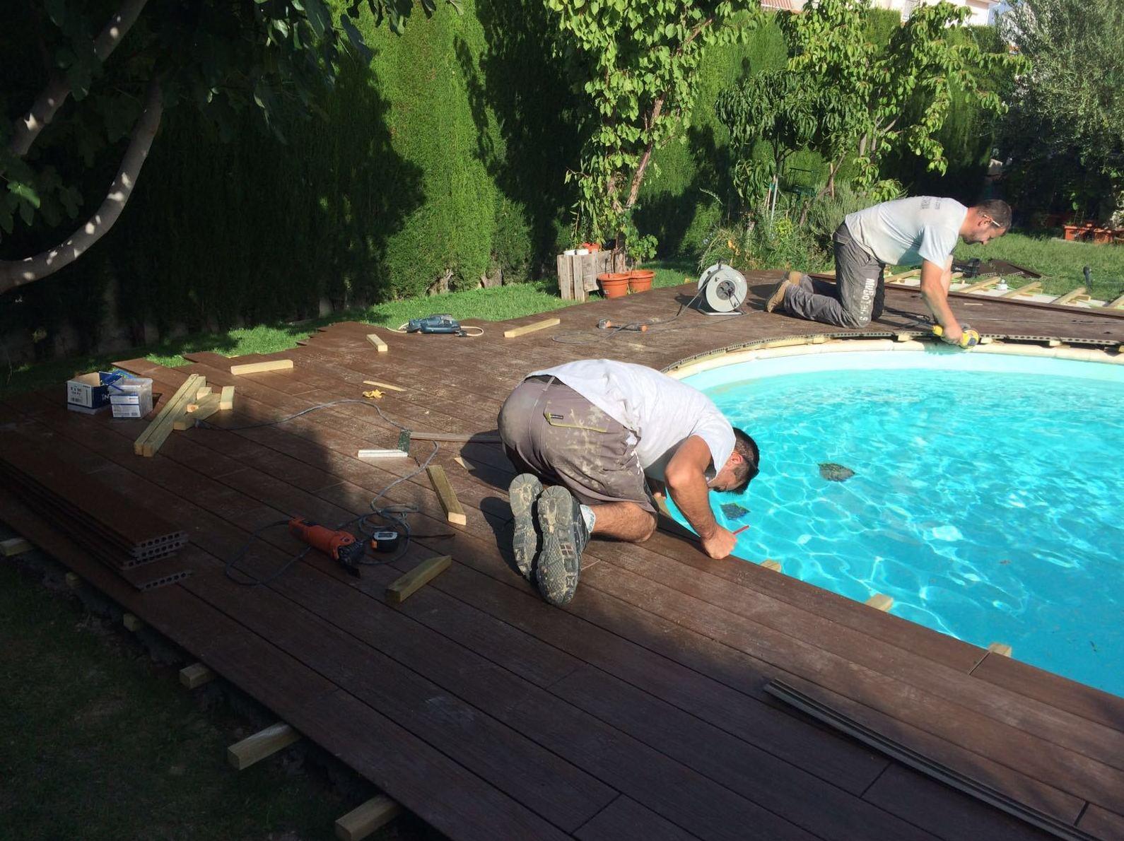 Remodelacion de piscina en tarima tecnológia