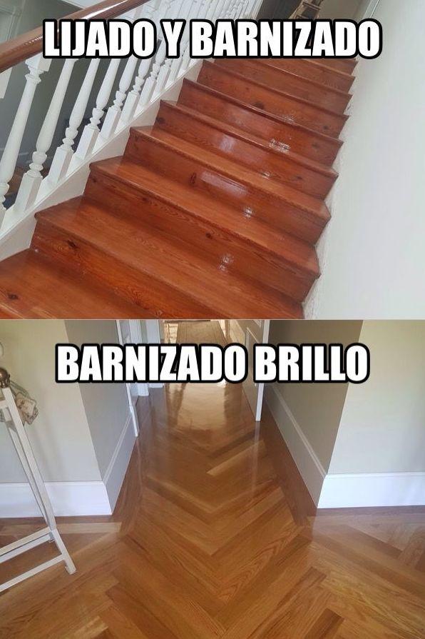Escaleras para Lijar y barnizar al agua