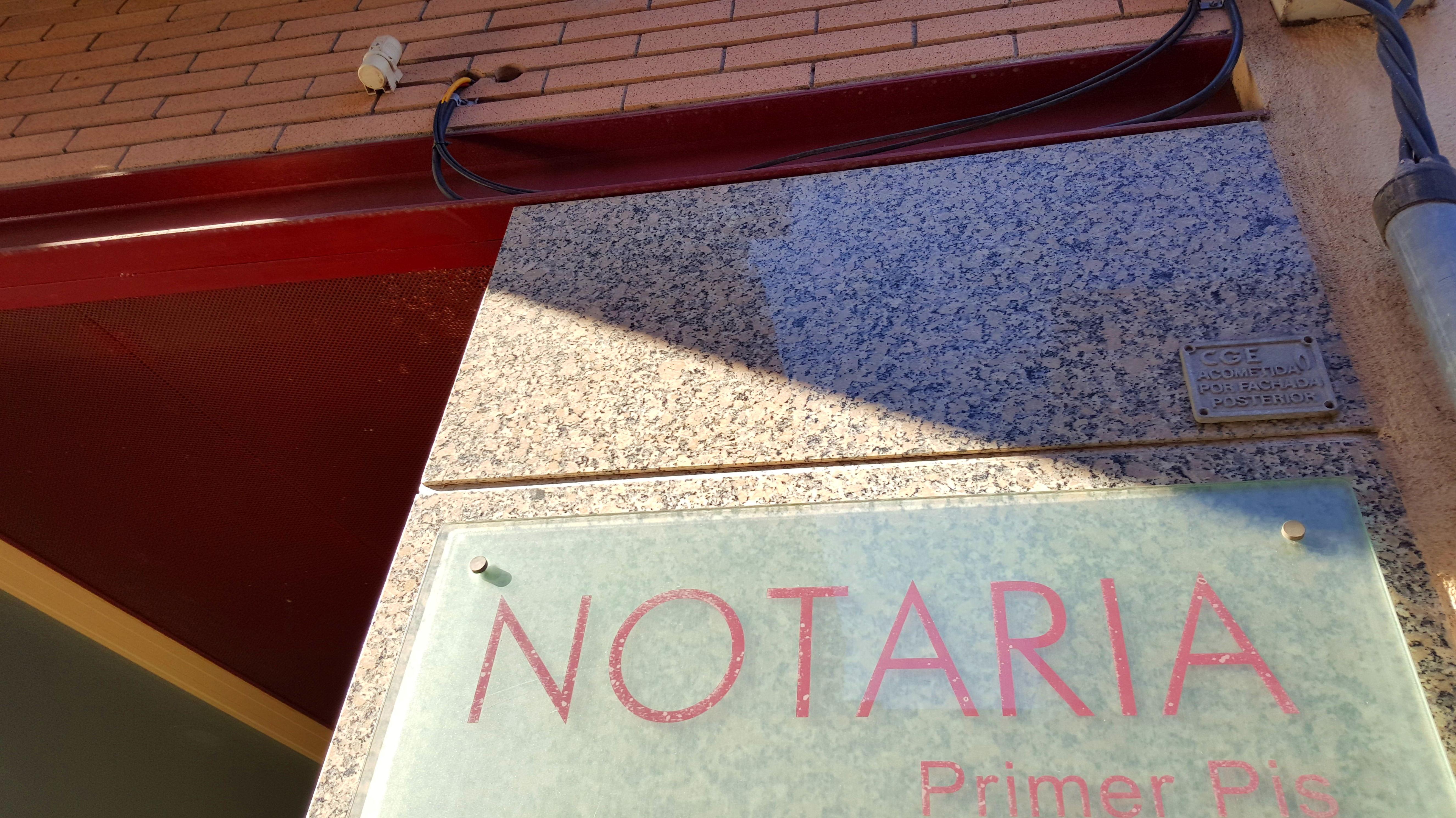 Trámites notariales
