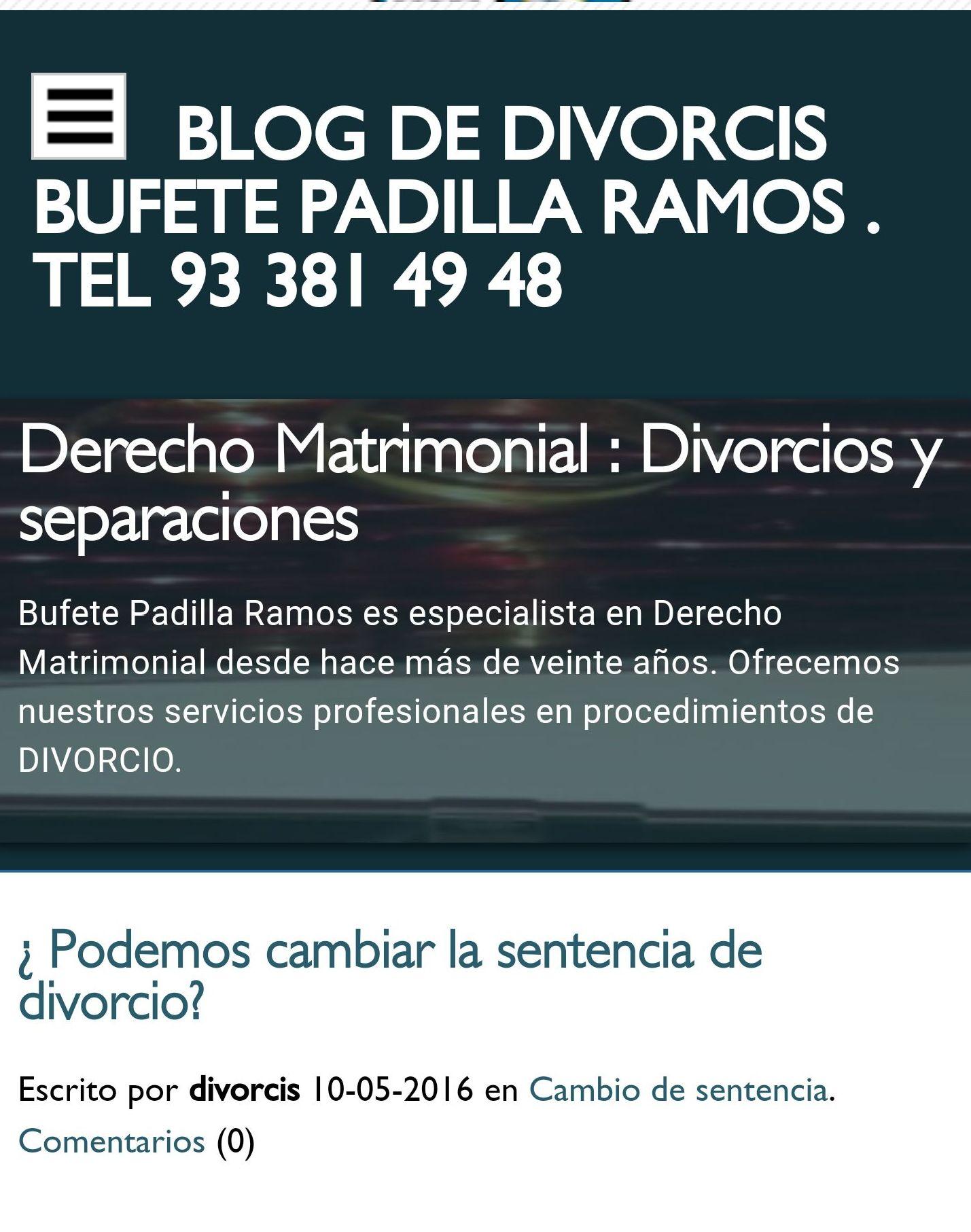 Nuestro blog de divorcis