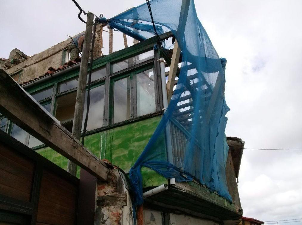 Demolición de fachada con seguriad
