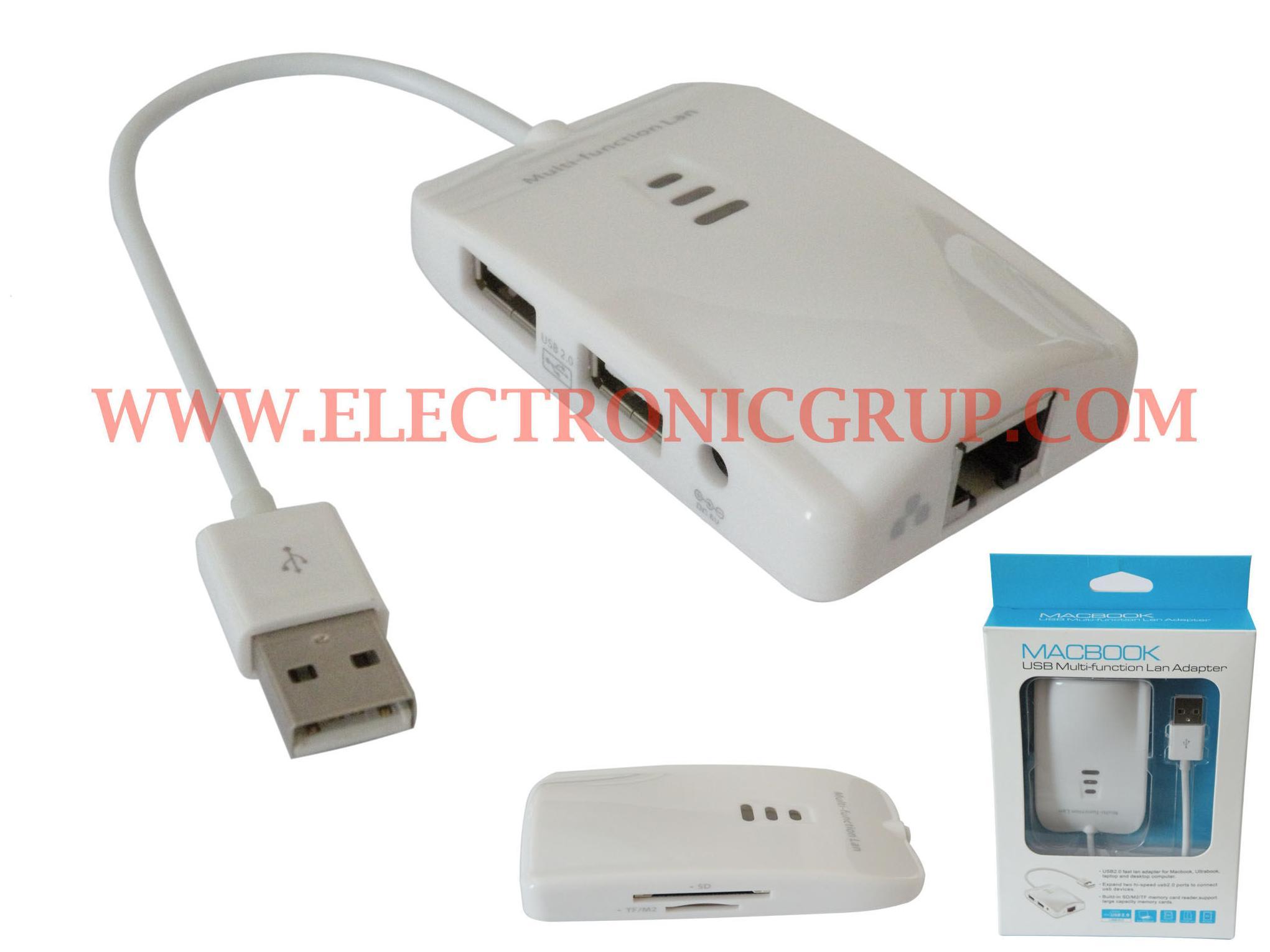 0837 - USB 2.0 a RJ45 + USB 2.0 + Tarjetas: Catálogo de Electronic Grup