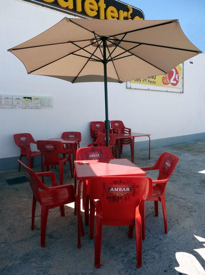 El Asturiano. Restaurante con terraza