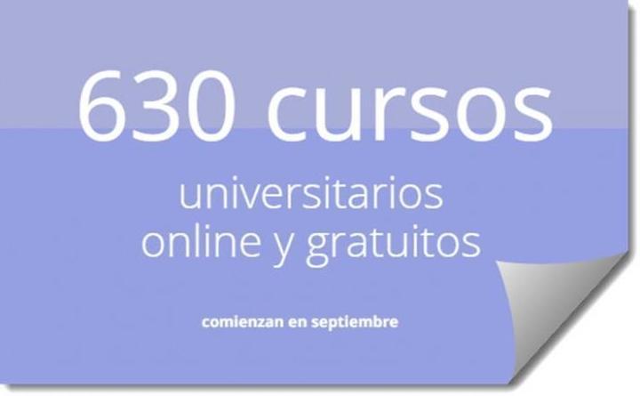 630 cursos universitarios, online y gratuitos