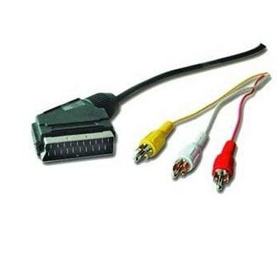 iggual Cable 3x RCA a Euroconector SCART 1.8Mts : Productos y Servicios de Stylepc