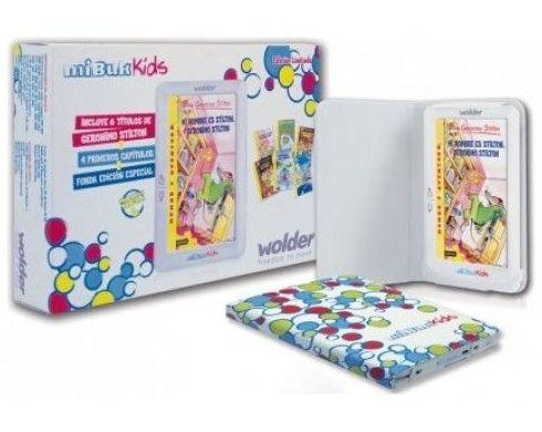 "E-BOOK WOLDER MIBUK KIDS 7"" + 6 LIBROS GERONIMO ST"