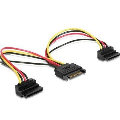 iggual Cable Doble Alim. SATA Conect. 90º 0.15 Mts : Productos y Servicios de Stylepc