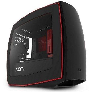 NZXT Caja Manta Mini ITX / Micro ATX Black/Red: Productos y Servicios de Stylepc