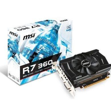 MSI VGA AMD RADEON R7 360 2GD5 OCV1 2GB DDR5: Productos y Servicios de Stylepc