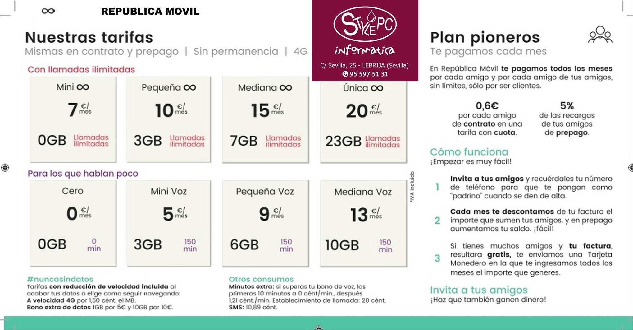 Te pagamos por tu móvil: Productos y Servicios de Stylepc