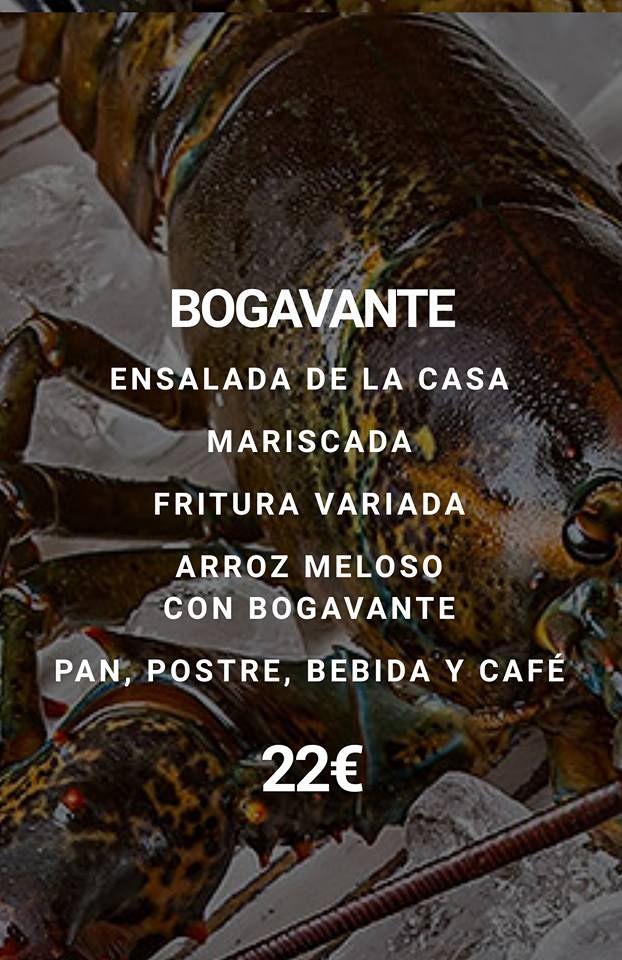 Menú con bogavante: Nuestros Menús de La Freiduría Andaluza