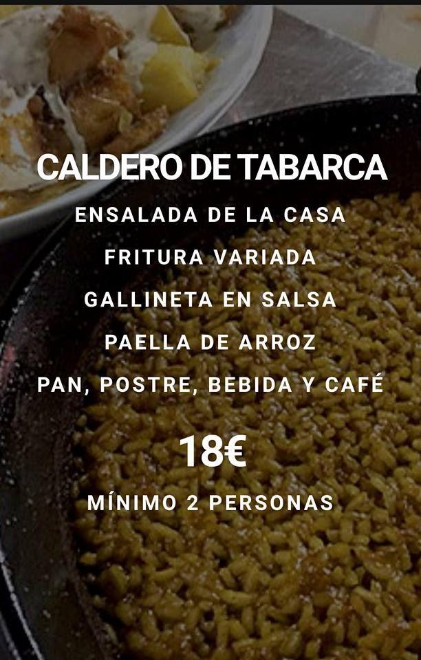 Menú caldero de Tabarca: Nuestros Menús de La Freiduría Andaluza